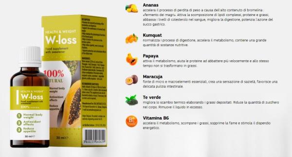 WLoss ingredienti